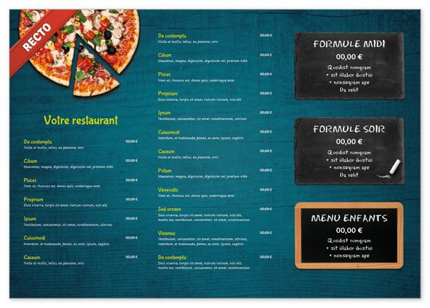 Set De Table Lavable Pour Restaurant A Personnaliser Menu