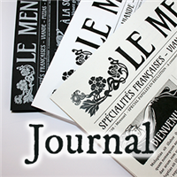 Menu Journal - Noir & Blanc