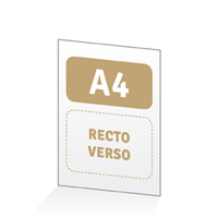 Menu A4 - Recto / Verso