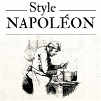 Menu journal - Style Napoléon