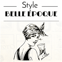 Menu journal - Style Belle époque