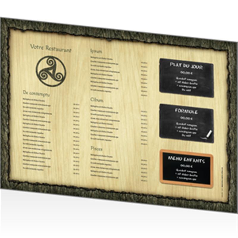 Menu personnalis pour restaurant breton - Set de table personnalise pour restaurant ...