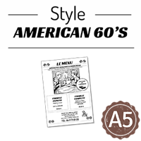Flyer - Journal style American 60's : A5RV
