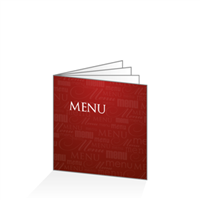 Menu - Typo bordeaux : 8P21x21
