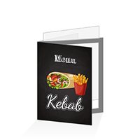 Porte menu - Restauration rapide kebab : A5