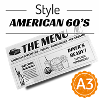 Menu - Journal American 60s : A3RV