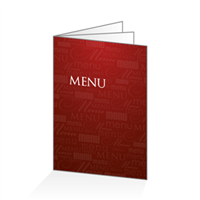 Menu - Typo bordeaux : 6PA4