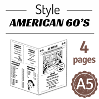Flyer - Journal style American 60's : 4PA5