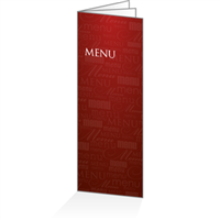 Menu - Typo bordeaux : 6P14x38