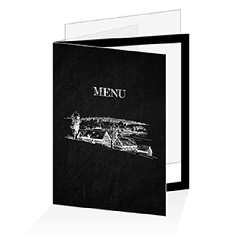 Portemenu à Personnaliser Pour Pages A - Porte menu restaurant