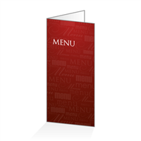 Menu - Typo bordeaux : 4P14x30