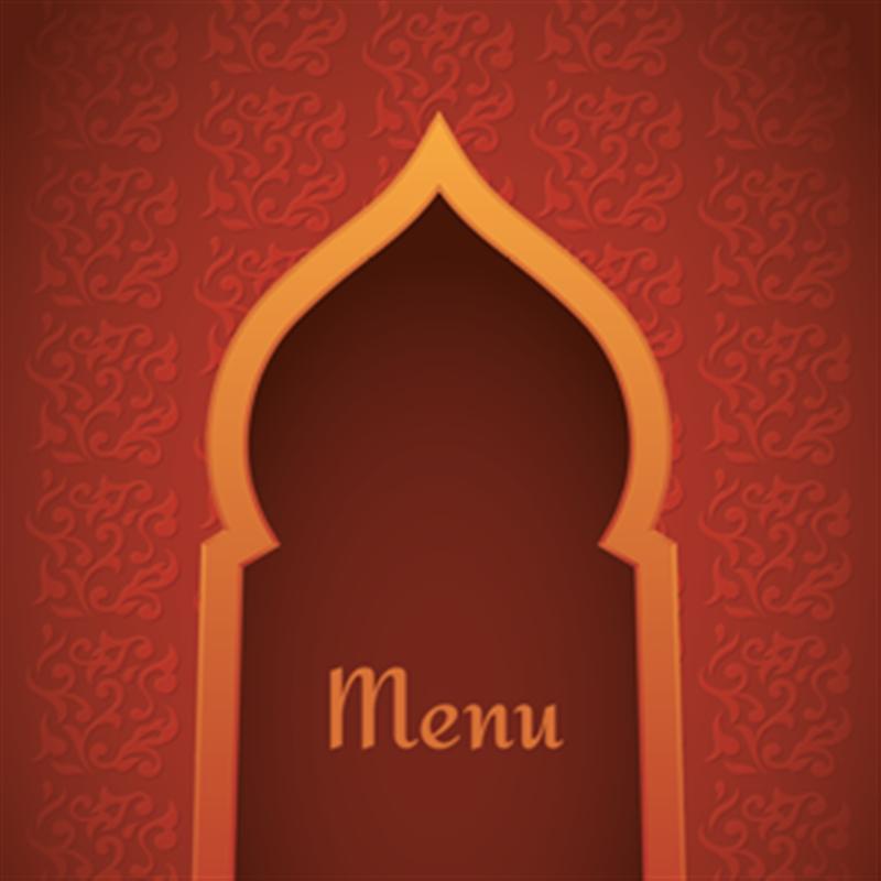 menu personnalisable pour restaurant oriental. Black Bedroom Furniture Sets. Home Design Ideas