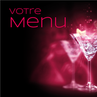 Menu - Lounge pourpre
