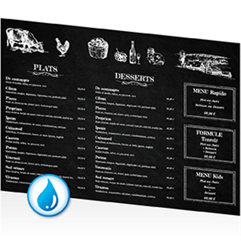 Menu fonds ardoise pour restaurants traditionnels et for Four pour restaurant