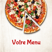 Menu - Hot pizza beige