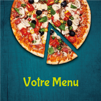 Menu - Hot pizza cyan