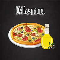 Menu - Restauration rapide pizza