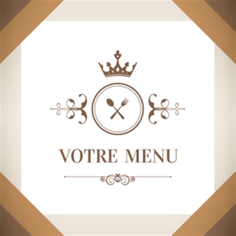 Menu personnalisable pour restaurant gastronomique for Four pour restaurant