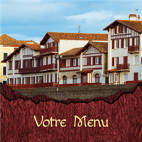 Menu - Bois écorce basque photo