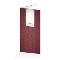 Menu - Floral bordeaux : 4P14x30