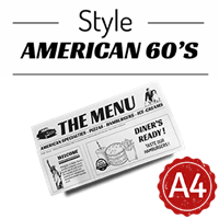 Menu - Journal american 60s : A4RV