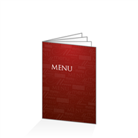 Menu - Typo bordeaux : 8PA5