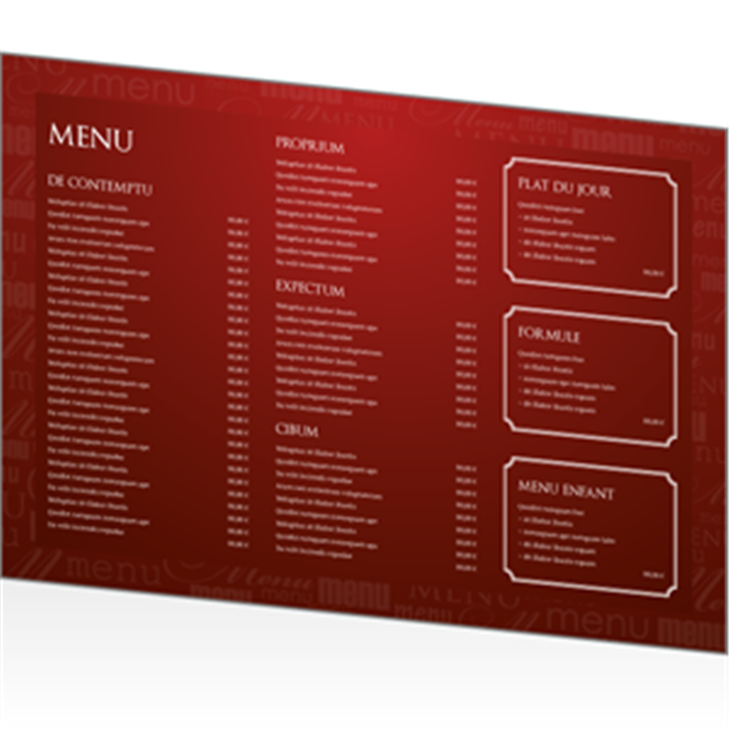 Menu cr ation online cr ation de votre menu en ligne for Table 9 menu