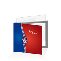 Porte menu - Europe United Kingdom : 21x21