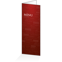 Menu - Typo bordeaux : 4P14x38
